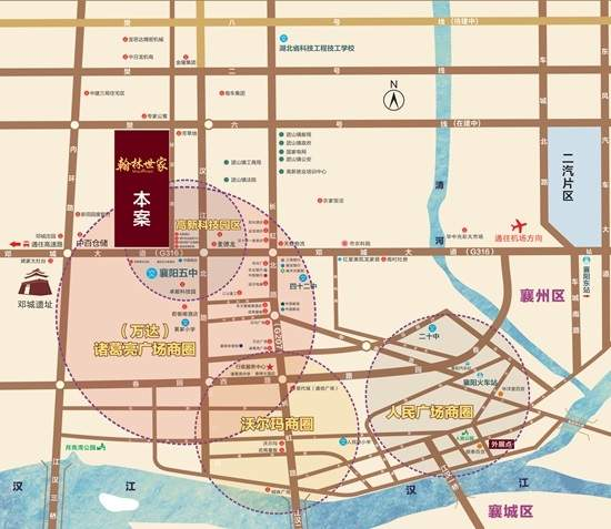 襄阳翰林世家位置图