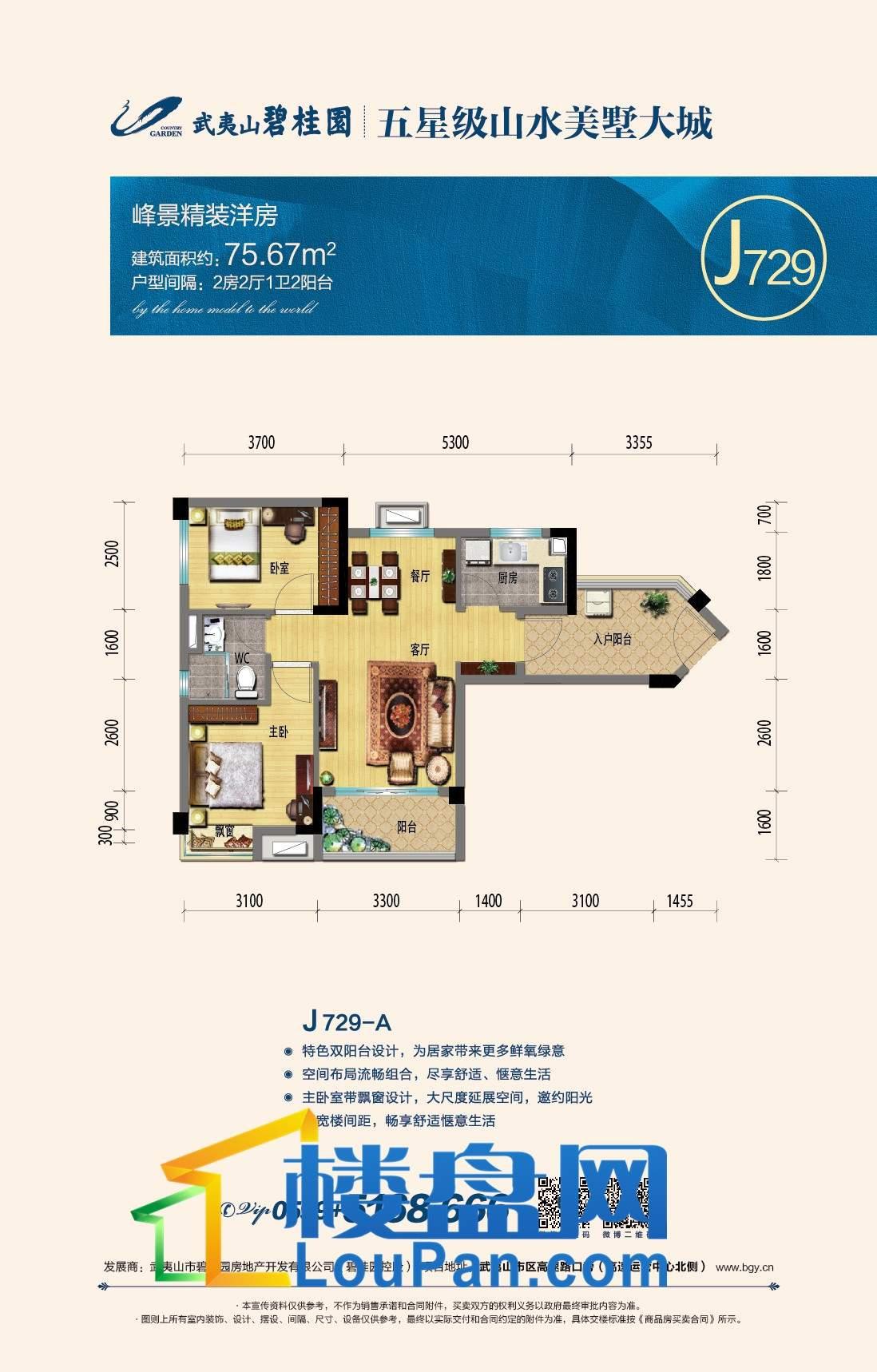 峰景精装洋房J729-A
