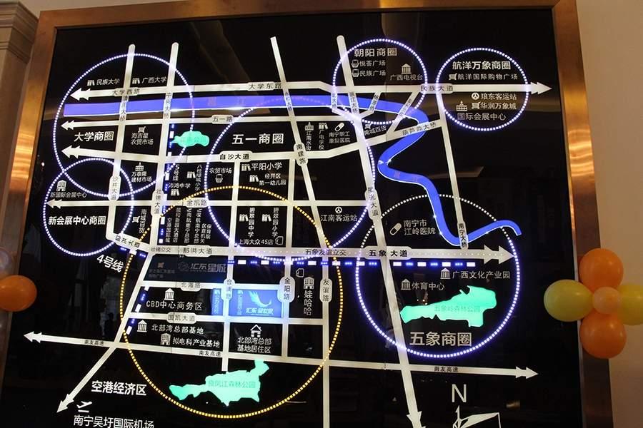 汇东星世界位置图