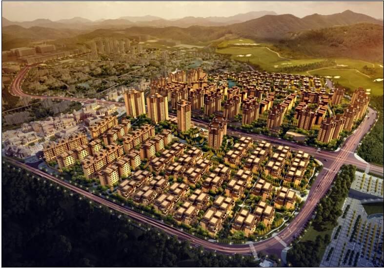 中国铁建涪陵山语城效果图