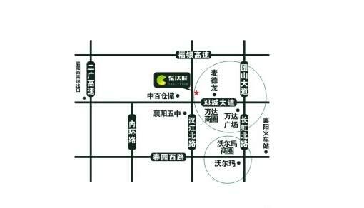 襄阳乐活城位置图