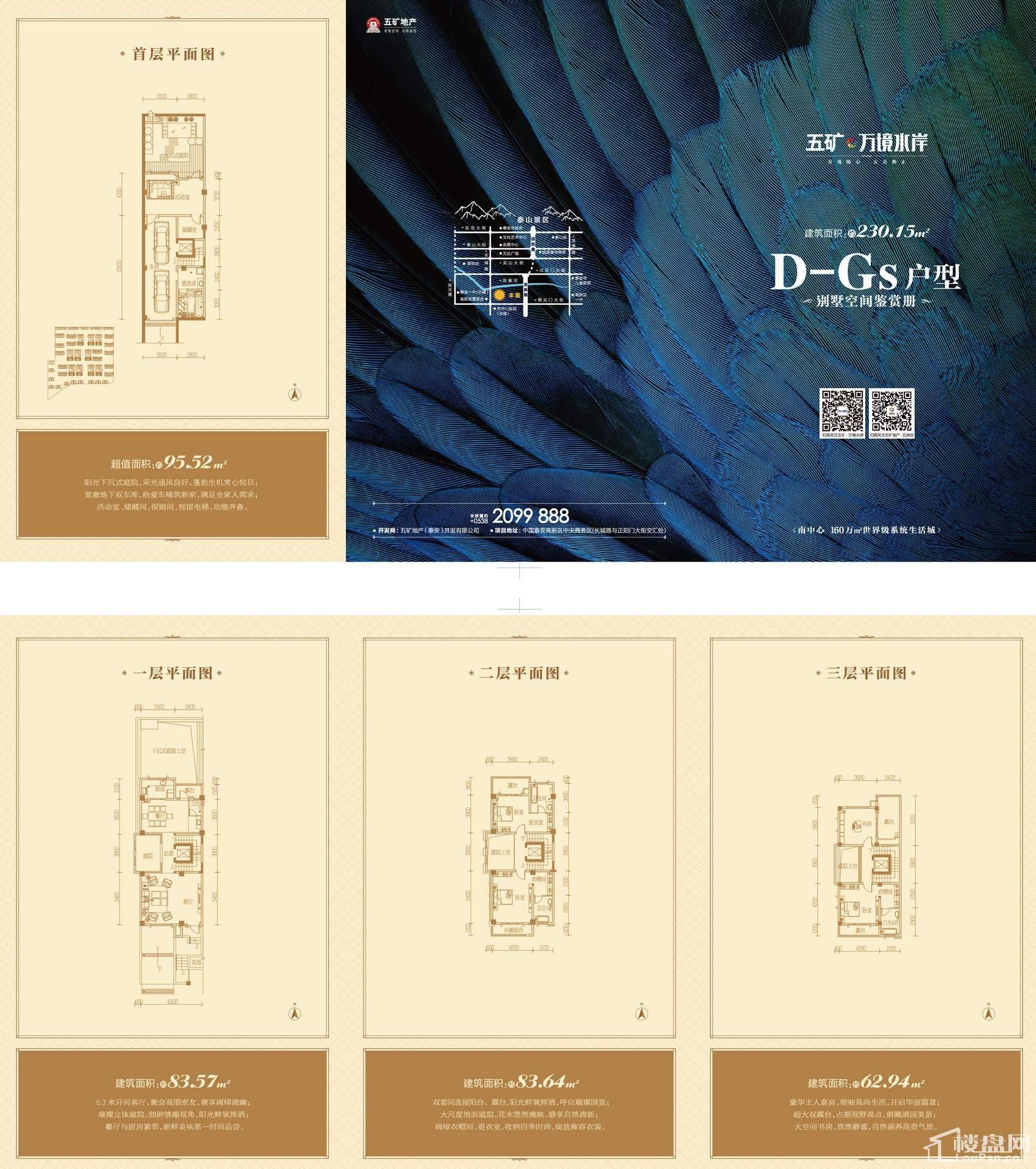 别墅户型D-Gs地上建筑面积230.15+赠送面积95.52