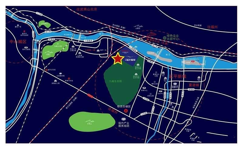 南平永森湖岸观邸位置图