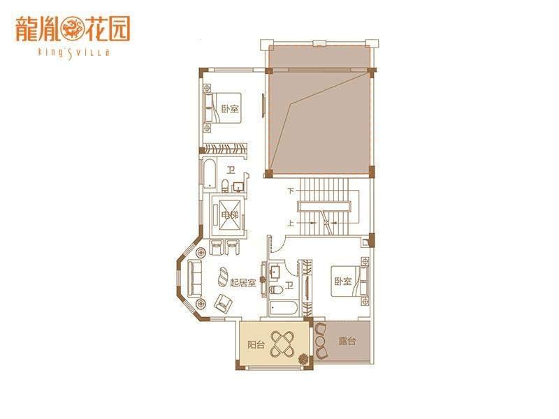 双拼别墅二层户型图