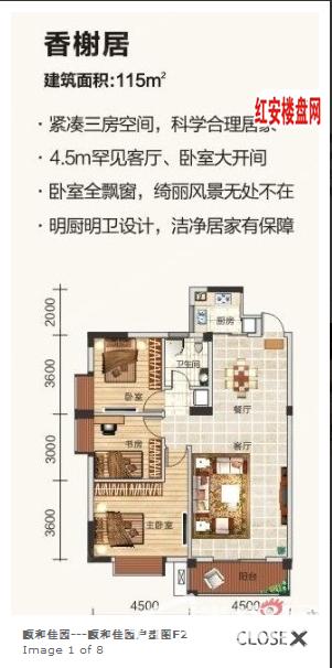颐和佳园户型图F2