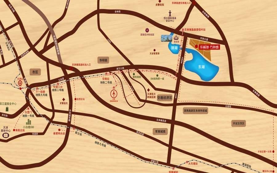 东丽湖万科城洋房位置图