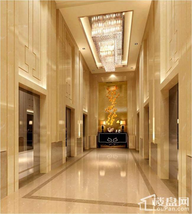 湛江万达广场电梯厅效果图