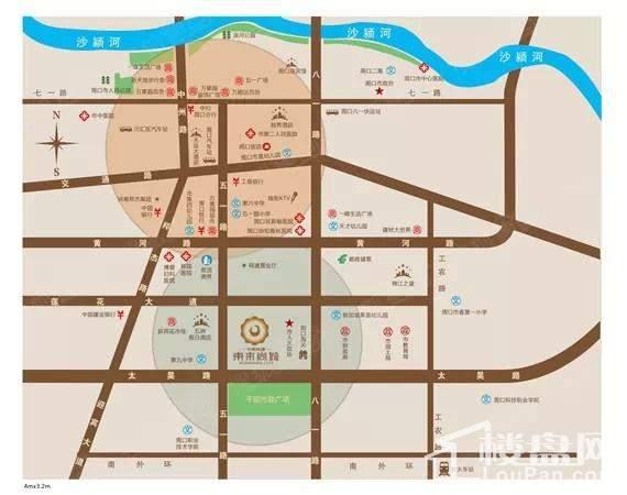 中国铁建·东来尚城位置图