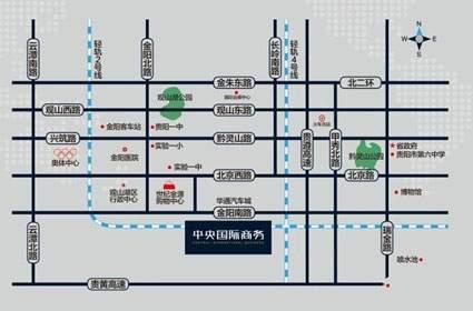 中国普天·中央国际位置图