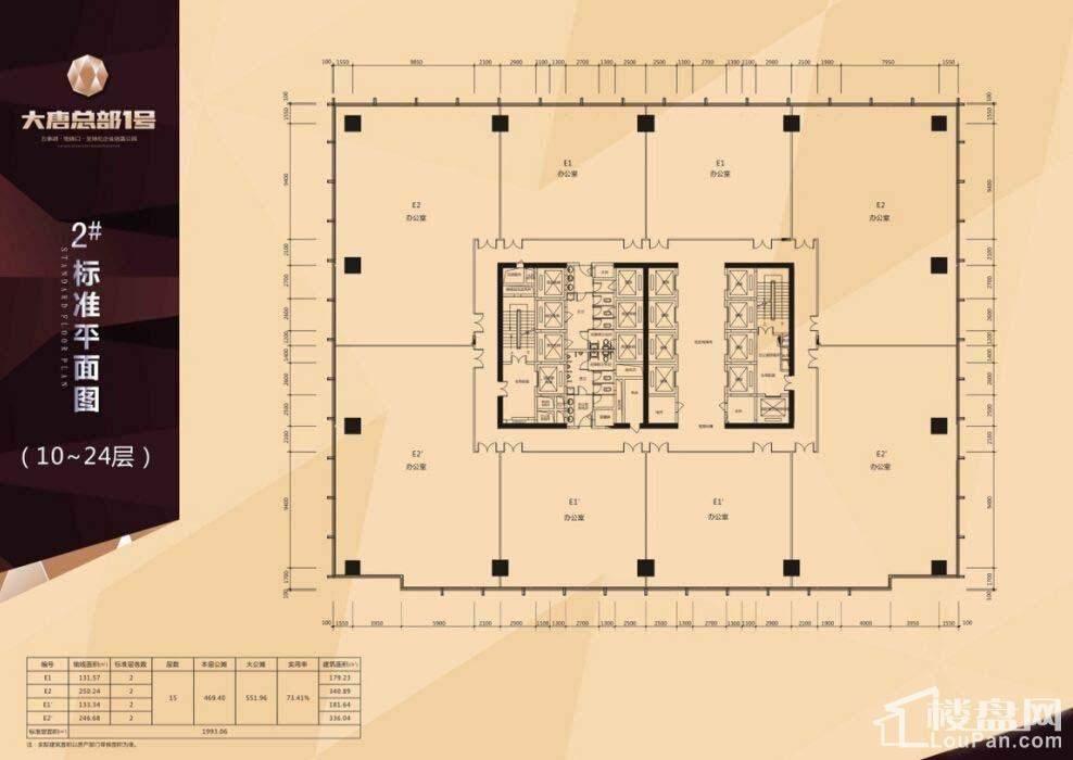 2#楼标准层面图(5-9层)