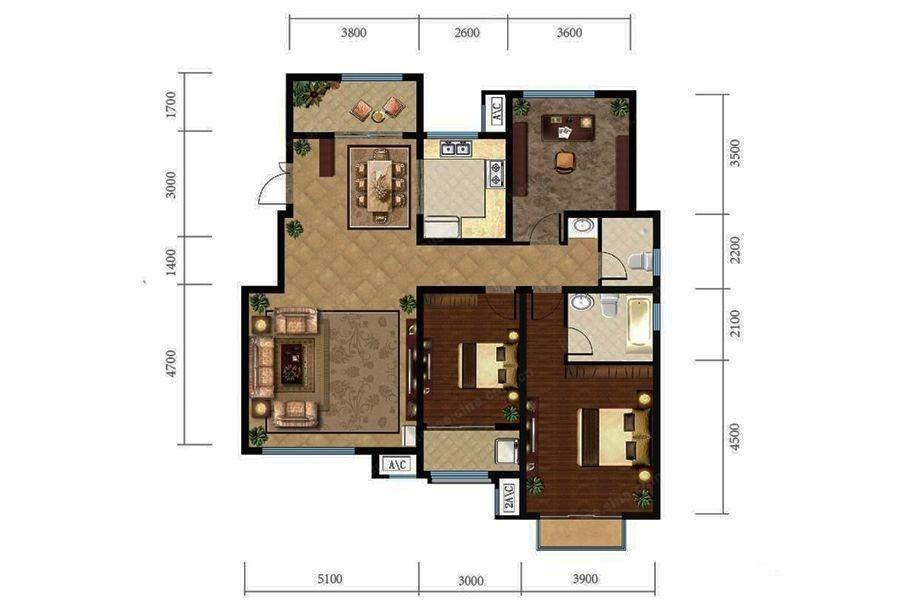 洋房5层L1户型