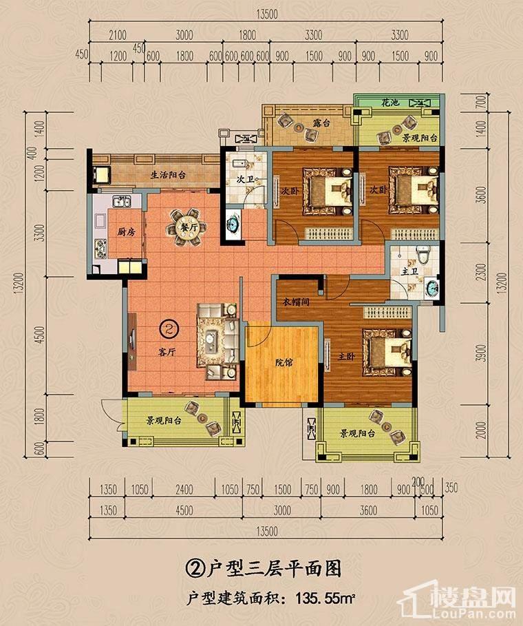 ②户型三层平面图
