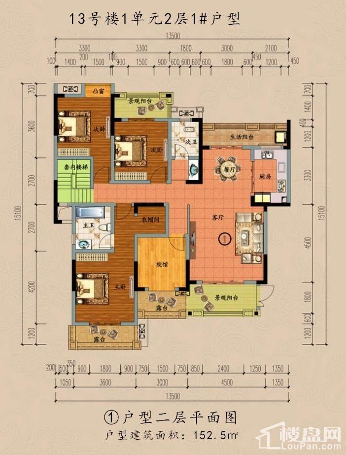 ①户型二层平面图
