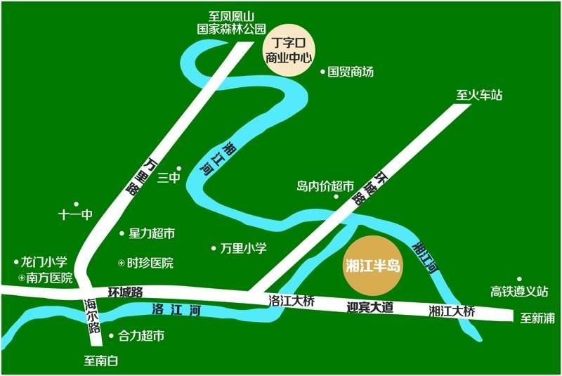 城投·湘江半岛位置图
