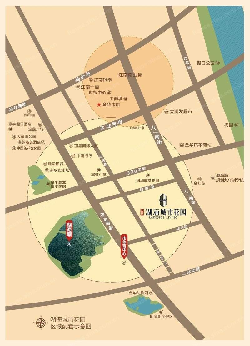 湖海城市花园位置图