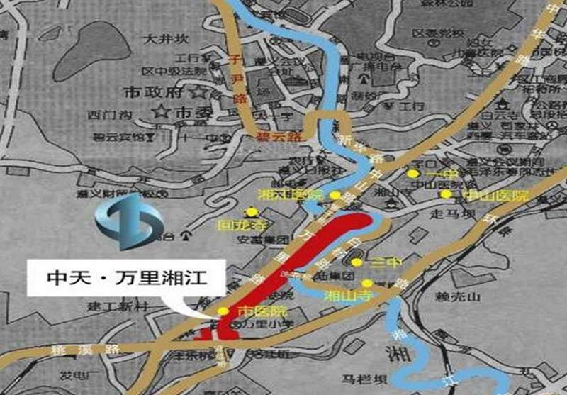 中天·万里湘江位置图