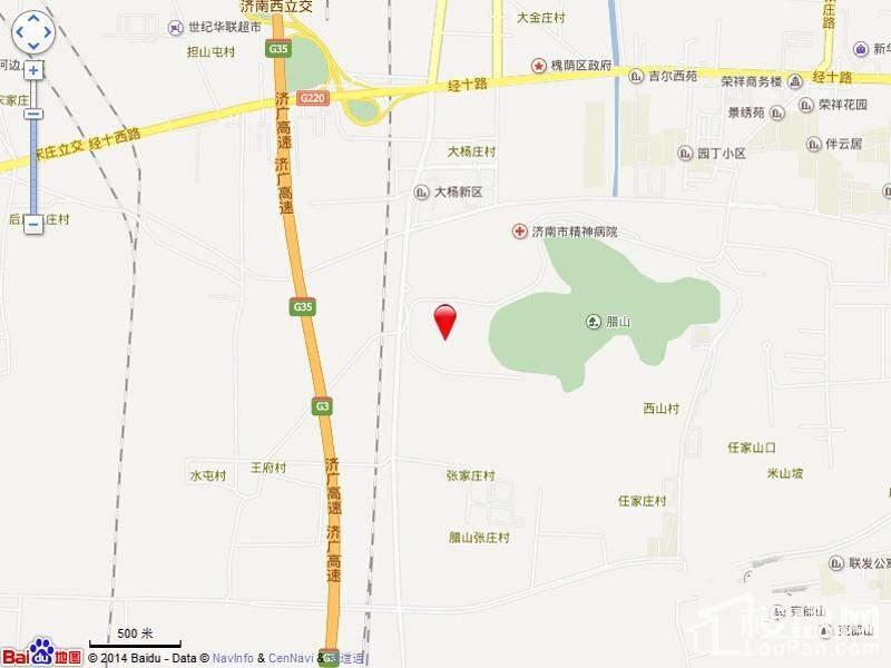 绿城·腊山御园位置图