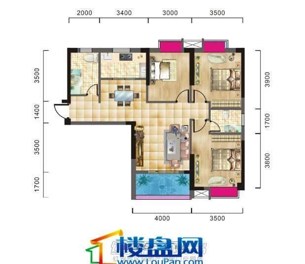红安金沙世纪城户型图