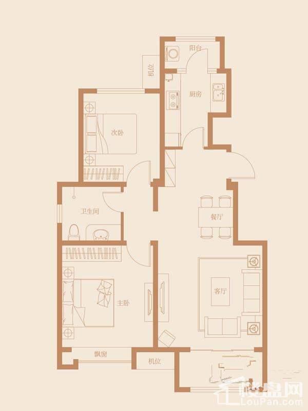 35、36、39号楼标准层A1-1户型图