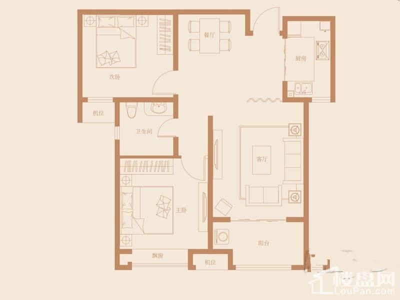 31、40号楼标准层A2-1户型