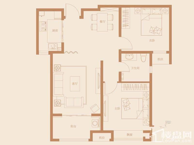 31、40号楼标准层A2-2户型