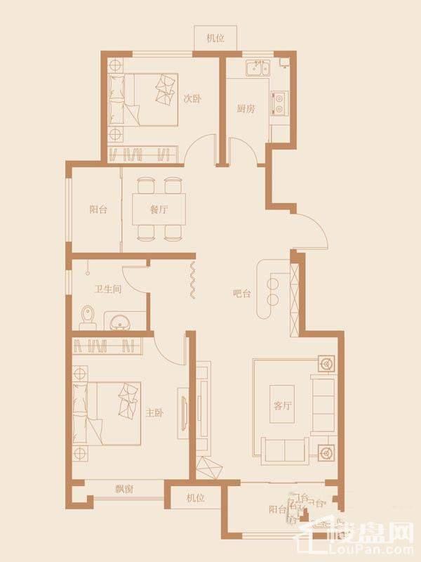 9、18、27号楼标准层B2户型