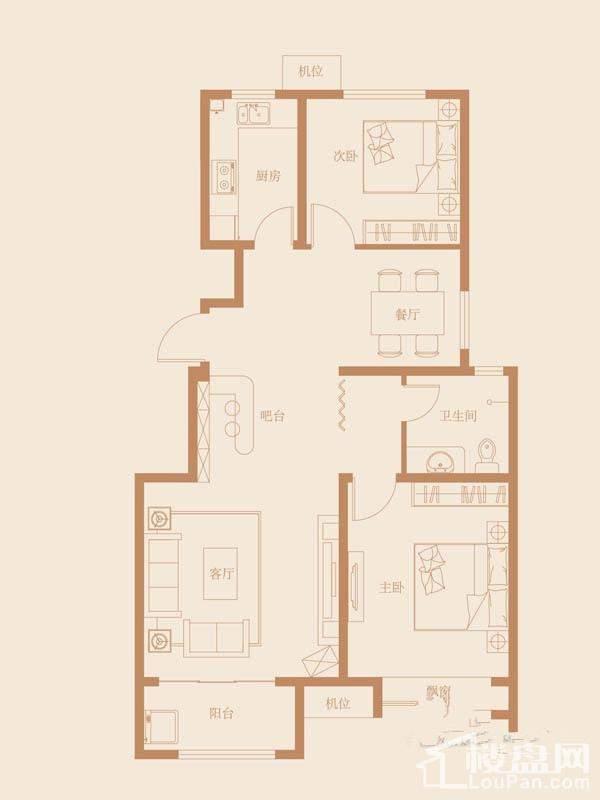9、18、27号楼标准层B1户型