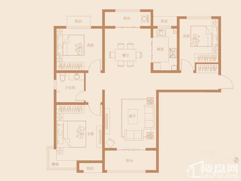 40号楼标准层C3-3户型图