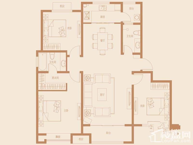 32、33、37、38号楼标准层D1户型