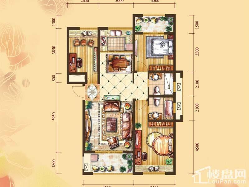 4#楼标准层E1户型[在售]