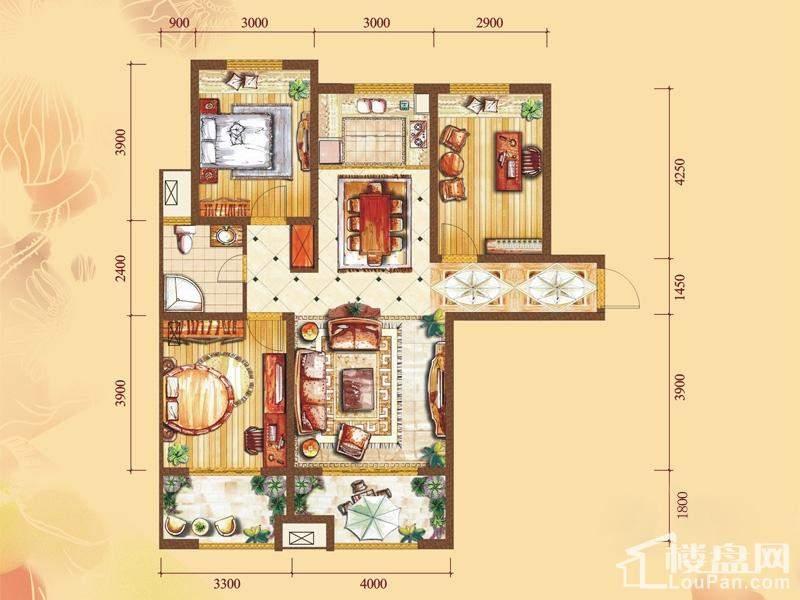 2#楼标准层C2户型[在售]