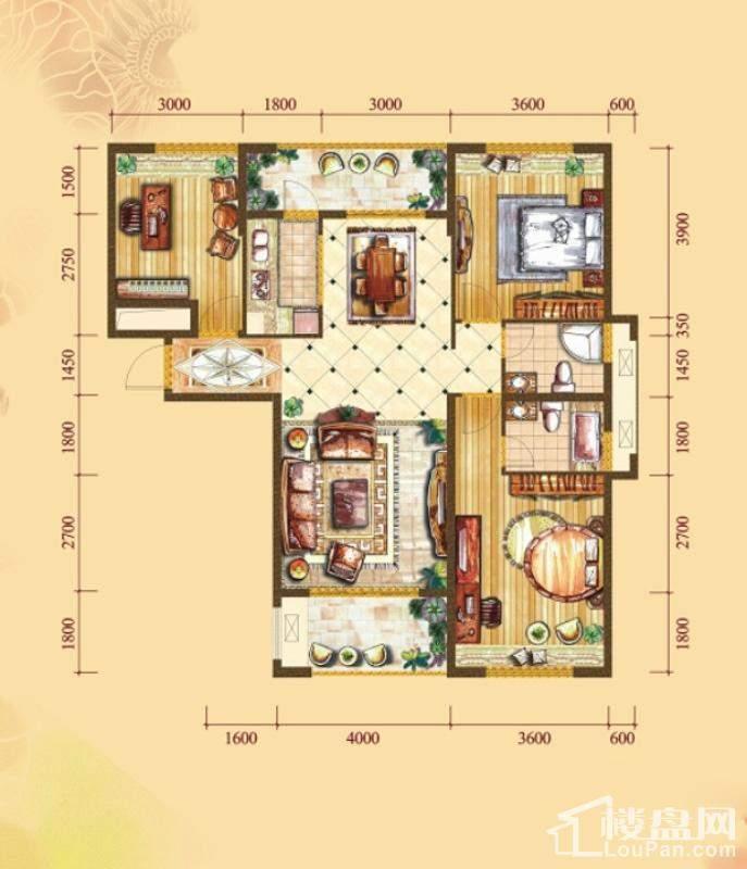 3#楼标准层A4户型[在售]