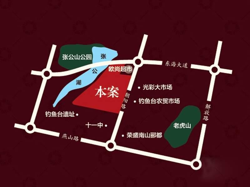 荣盛锦绣香堤位置图