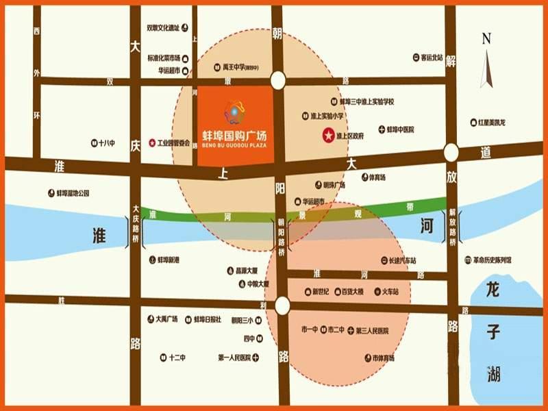 蚌埠国购广场位置图