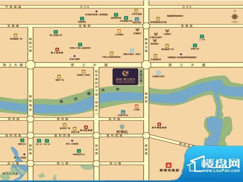 绿城春江明月位置图