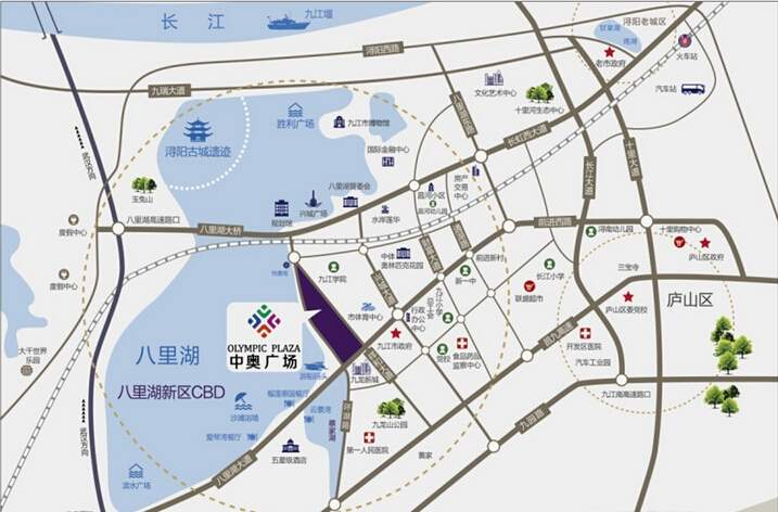 九江中奥广场位置图