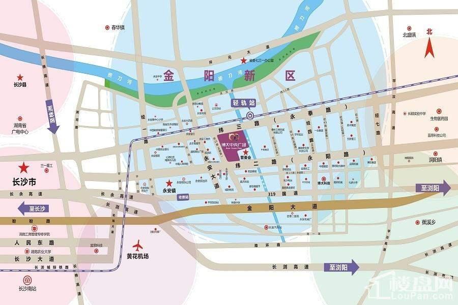 博大中央广场位置图