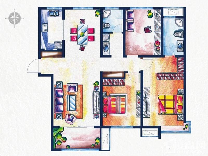 一期3#、4#楼标准层L1户型