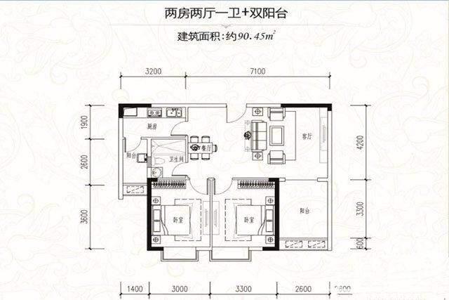 一期E栋134.67平户型图