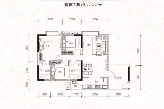 一期E栋82.21平户型图
