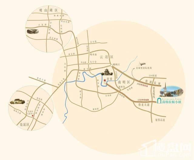 茵特拉根小镇位置图