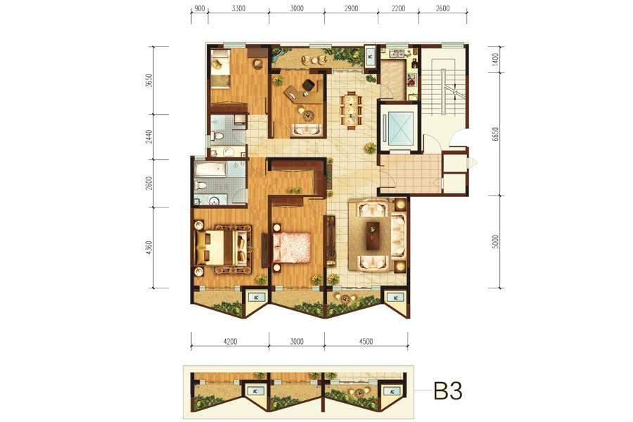 阳光100国际新城 K2号楼b2户型
