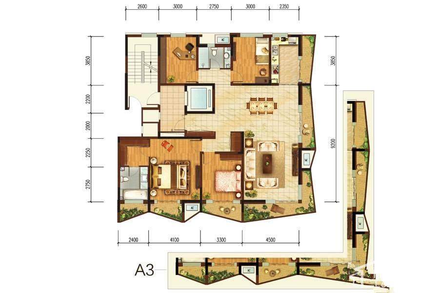 阳光100国际新城 K2号楼A2户型