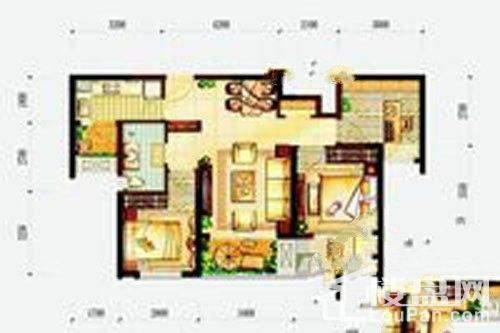 万科玲珑湾户型图13栋8楼3号户