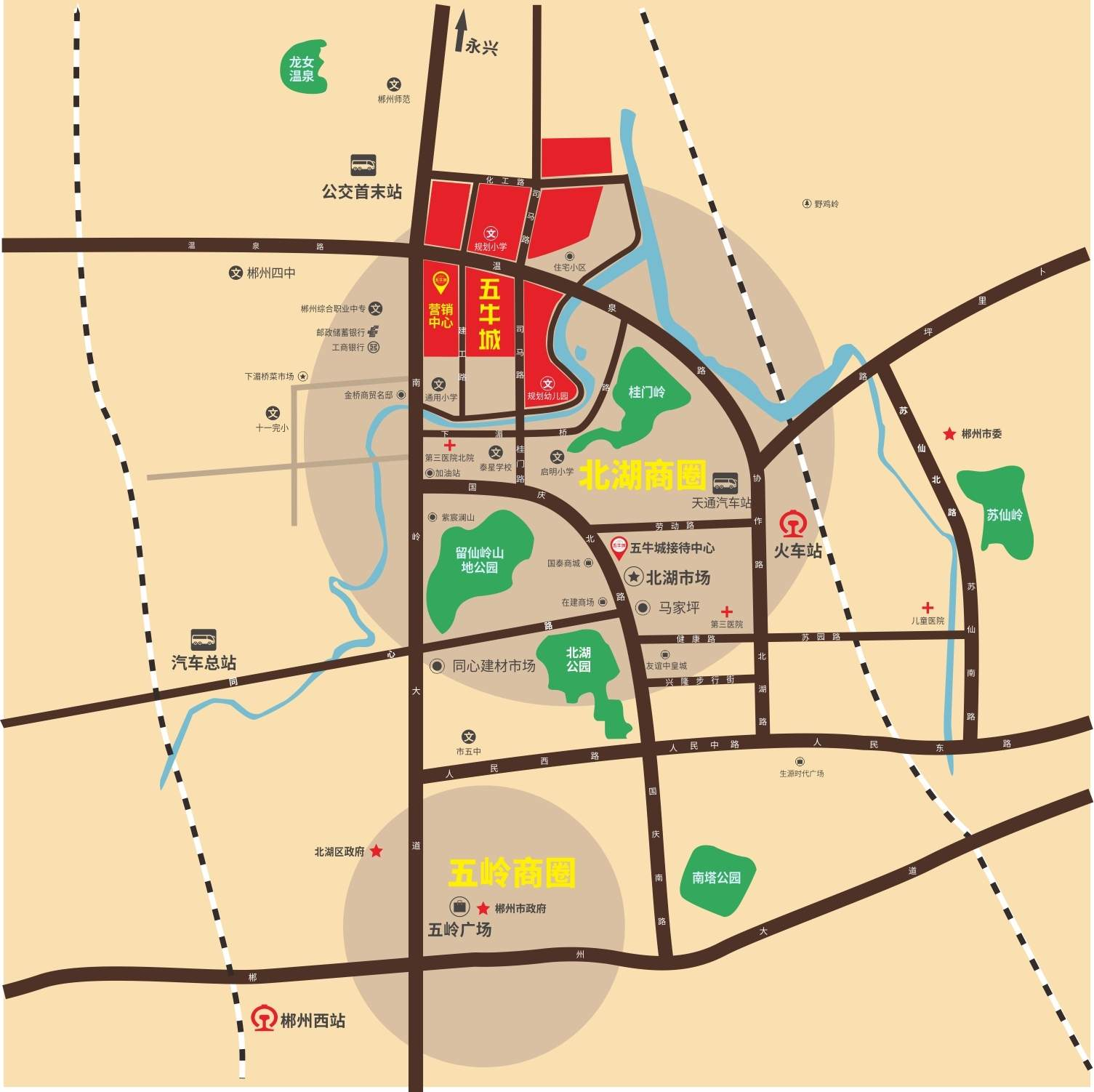 五牛城位置图
