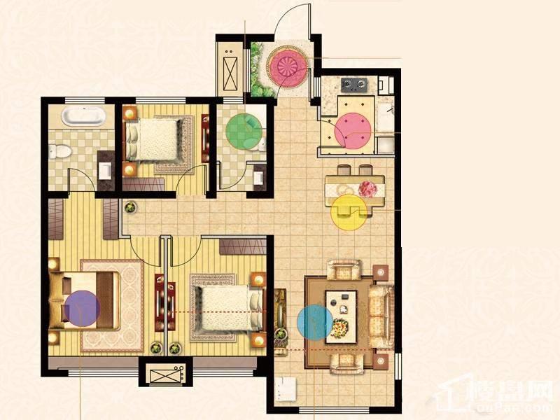 一期1、2号楼标准层C户型
