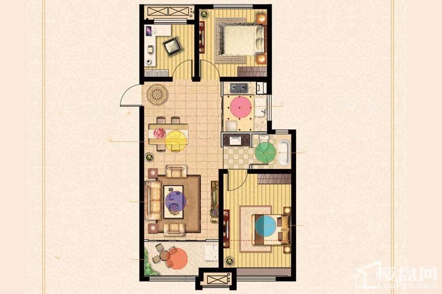 D地块一期4#楼标准层A户型