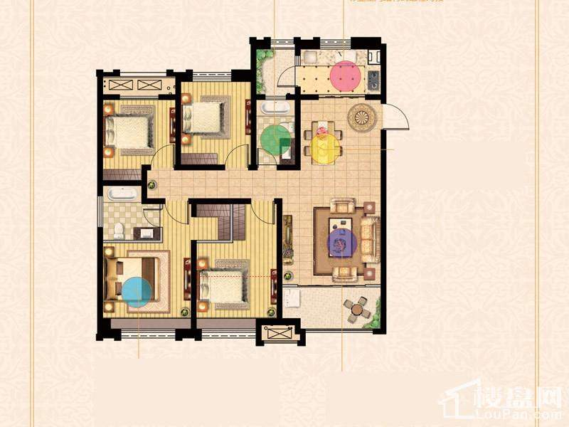 二期3号楼标准层E户型