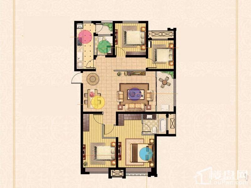 二期3号楼标准层F户型