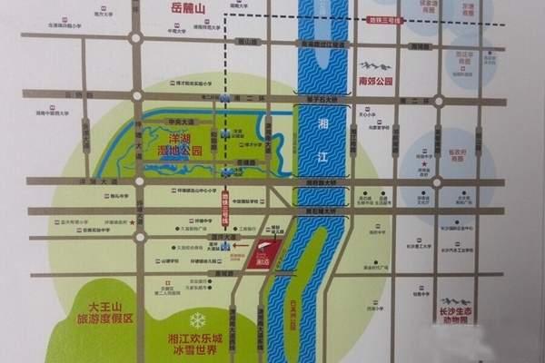 湘港位置图